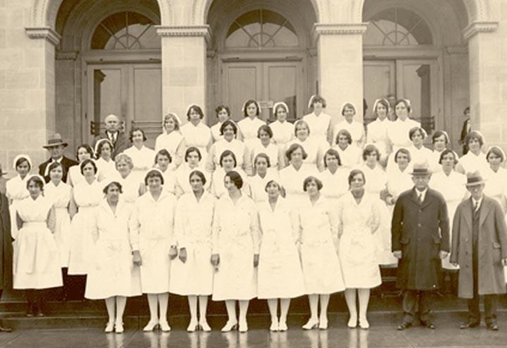 Historic image of Methodist nurses