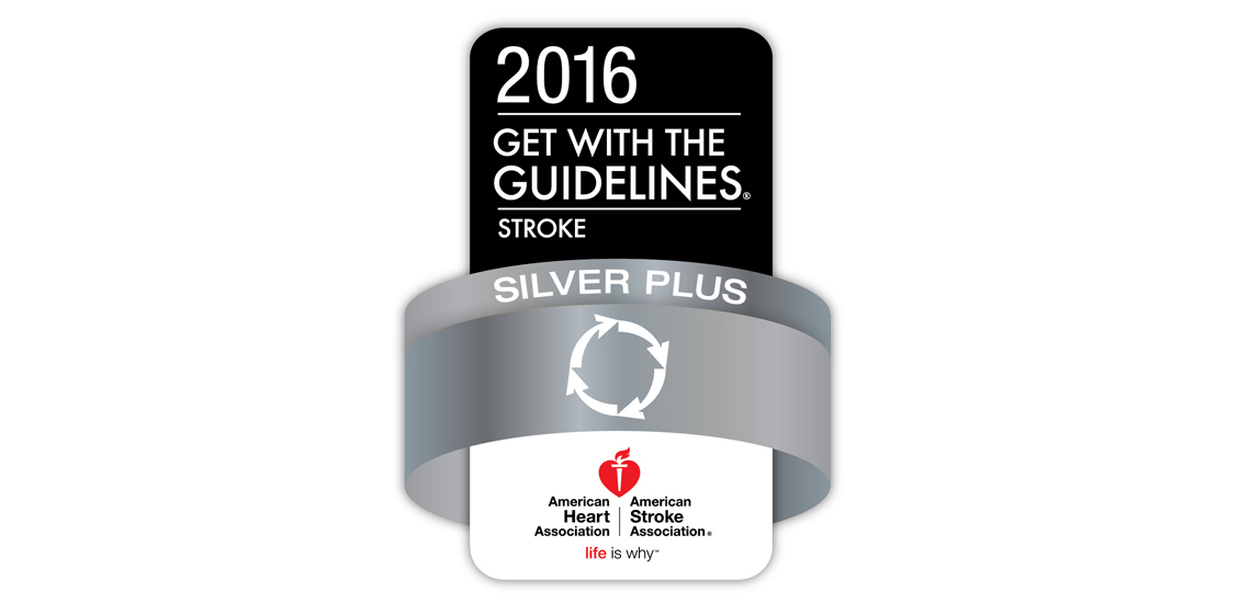 2016 Get With The Guidelines® – Stroke Silver Plus Achievement Award for Methodist Charlton, Methodist Mansfield, and Methodist Richardson