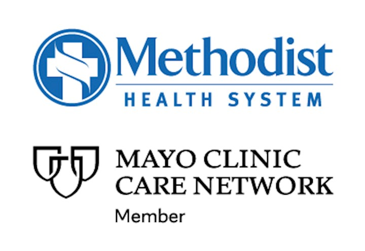 Mayo Clinic Care Network and Methodist Health System logo